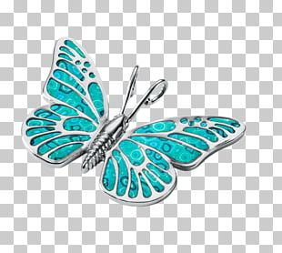 Monarch Butterfly Turquoise Jewellery Necklace PNG