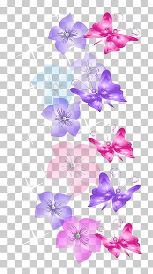 Butterfly Flower Desktop PNG