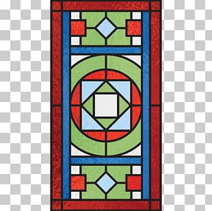 Stained Glass Art Symmetry Line Pattern PNG
