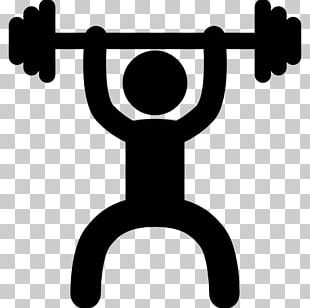 Exercise Fitness Centre Dumbbell Stick Figure PNG