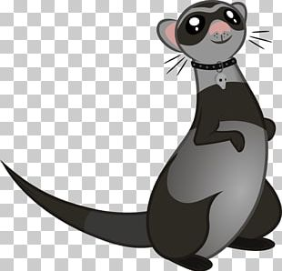 Whiskers Cat Character Cartoon Fiction PNG