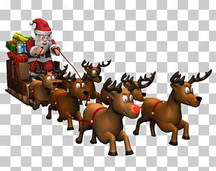 Reindeer Père Noël Santa Claus Horse Christmas Ornament PNG