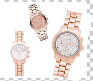 Silver Watch Strap Gold Pink PNG