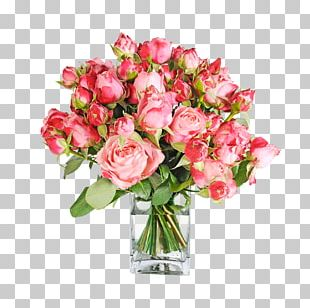 Garden Roses Pink Flower Bouquet Cut Flowers Cabbage Rose PNG