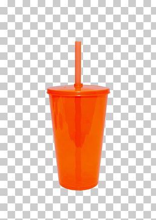 Orange Drink Plastic Cup PNG