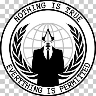 Anonymous Logo T-shirt Million Mask March PNG
