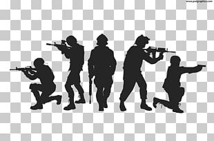 Silhouette Soldier Military Army PNG