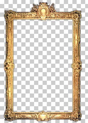 Frames Gold Gilding Mirror PNG
