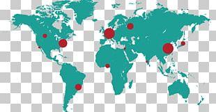 Globe World Map Chromalloy PNG