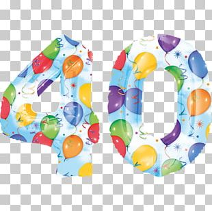 Toy Balloon Birthday Party Number PNG