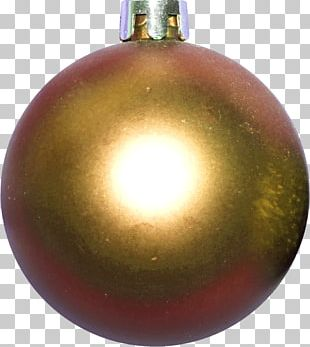 Christmas Ornament Ball Tinsel Yellow PNG