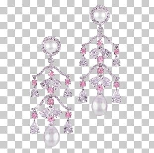Pearl Earring Jewellery Charms & Pendants Amethyst PNG