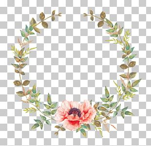 Wedding Invitation Flower Convite Wreath Garland PNG
