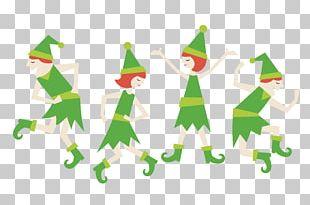 Santa Claus Christmas Elf Dance PNG