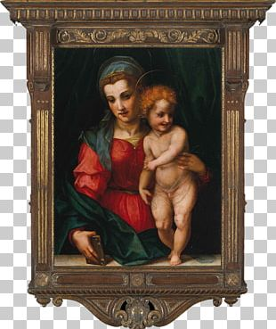 Painting Andrea Del Sarto Madonna And Child The Virgin And Child With St. Anne PNG
