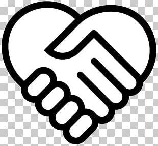 Handshake Hand Heart Symbol PNG
