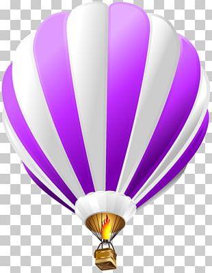 Hot Air Balloon Paper Blue PNG