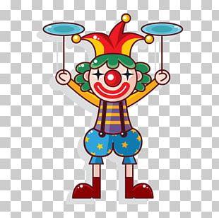 Cartoon Clown Performance PNG