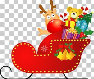 Christmas Santa Claus Gift Wrapping PNG