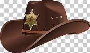 Hat 'n' Boots Fedora Cowboy PNG