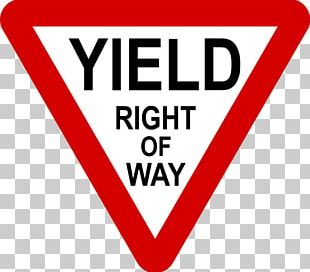 Yield Sign Right-of-way Stop Sign Traffic Sign United States PNG