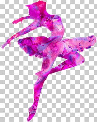 Ballet Dancer Silhouette Art PNG