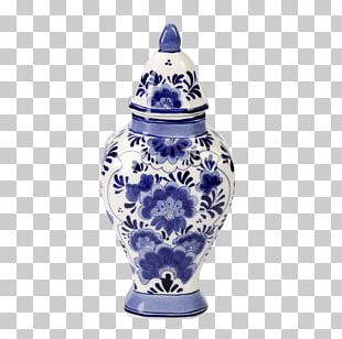 De Koninklijke Porceleyne Fles Delftware Vase Ceramic Blue And White Pottery PNG