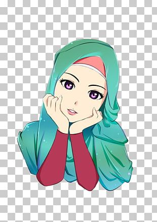 Hijab Cartoon Islam Muslim Drawing PNG
