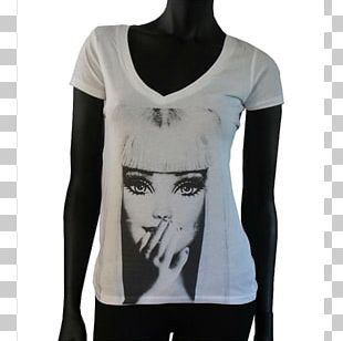 Long-sleeved T-shirt Collar White PNG