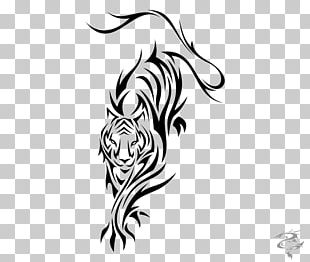 Tiger Tattoo Flash Black-and-gray Polynesia PNG