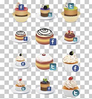 Buttercream Birthday Cake Cupcake Torte Petit Four PNG