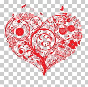 Heart Flower Love Euclidean PNG