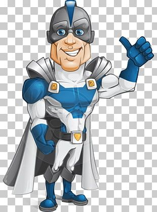 Superhero Cartoon Character Animation PNG