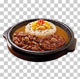 Japanese Cuisine Japanese Curry Hamburg Steak Food PNG