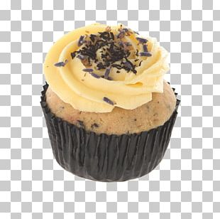 Buttercream Earl Grey Tea Cupcake Muffin Ganache PNG