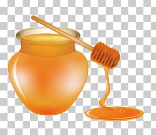 Ice Cream Pancake Bee Honey Syrup PNG