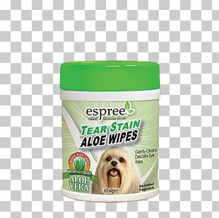 Espree Tear Stain Wipes Aloe Vera Espree Puppy Aloe Wipes Eye Espree Animal Products Tear Stain & Spot Remover 4 Oz (118 Ml) PNG