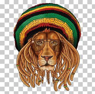 Lion Of Judah T-shirt Rastafari Hat PNG