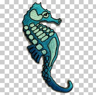Seahorse Embroidered Patch Embroidery Iron-on Appliqué PNG