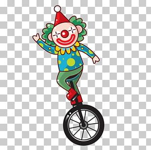Clown Unicycle PNG