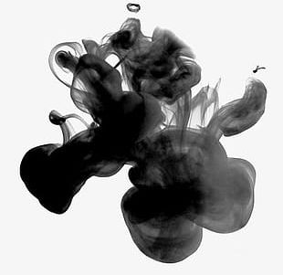 Free Black Ink Smoke Element Buckle PNG