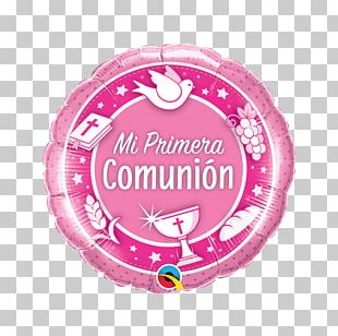 Balloon First Communion Eucharist Baptism PNG