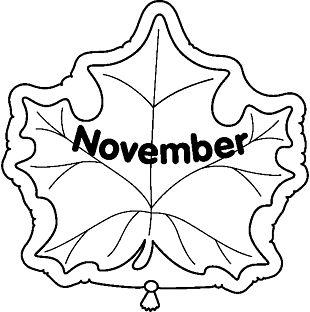 November Black And White PNG