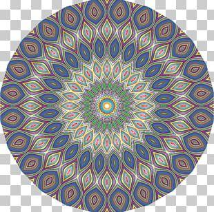 Kaleidoscope Symmetry Circle Purple Pattern PNG