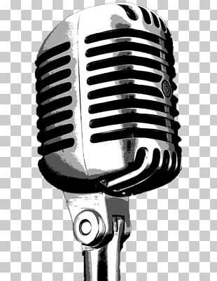 Wireless Microphone Drawing Disc Jockey PNG