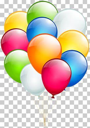 Balloon Birthday Wish Greeting Card PNG