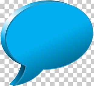 Blue Speech Balloon PNG