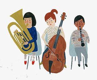 Cartoon Children's Band PNG