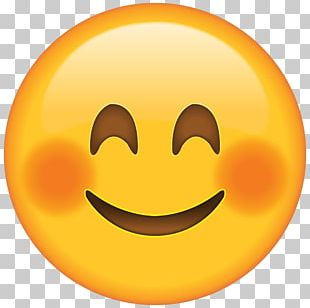 Emoticon Blushed Face PNG