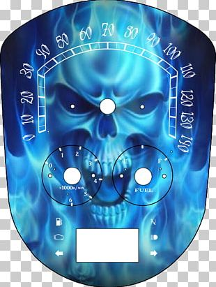 Flame Skull Blue Combustion Fire PNG